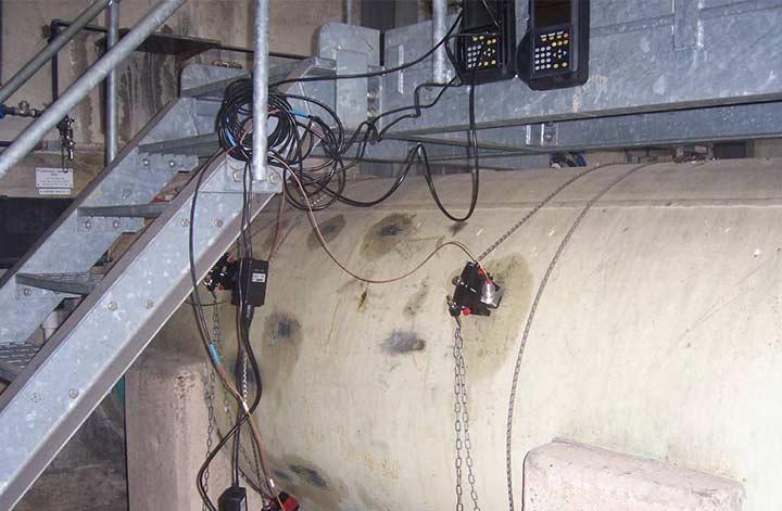 Mesure de débit sur une très grosse canalisation (2 000 mm)