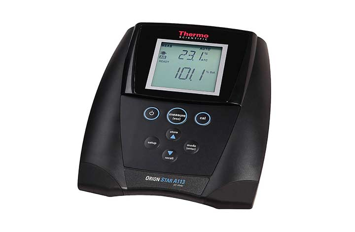 A113 Dissolved Oxygen Benchtop Meter with screen on
