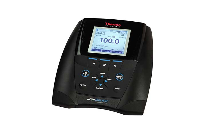 A212 Conductivity Benchtop Meter with screen on