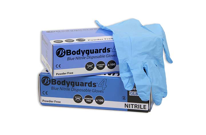 Blue Nitrile Powder Free Disposable Gloves (100 Per Box)