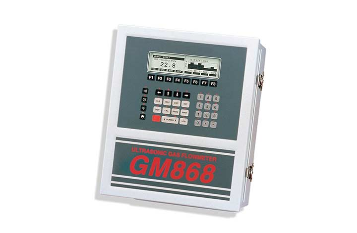 GM868 Ultrasonic Gas Flow Meter showing measurements