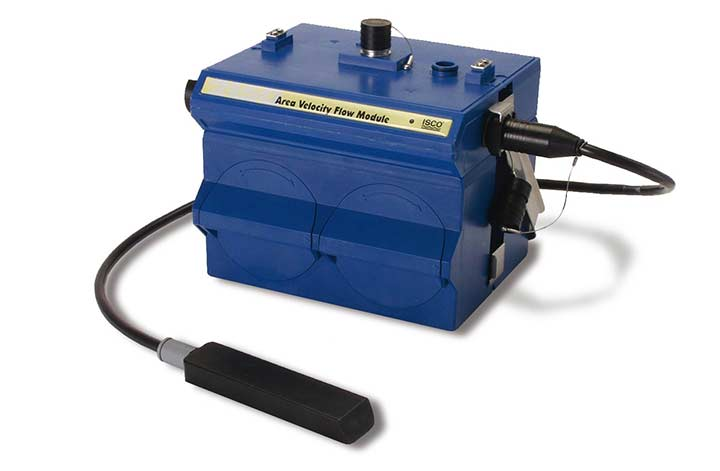 Blue ISCO 2150 Area Velocity Flow Meter box