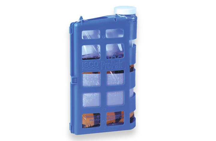 ProPak Sample Bags in blue casing