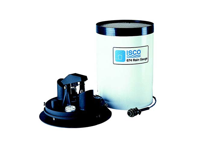 ISCO Rain Gauge with lid off