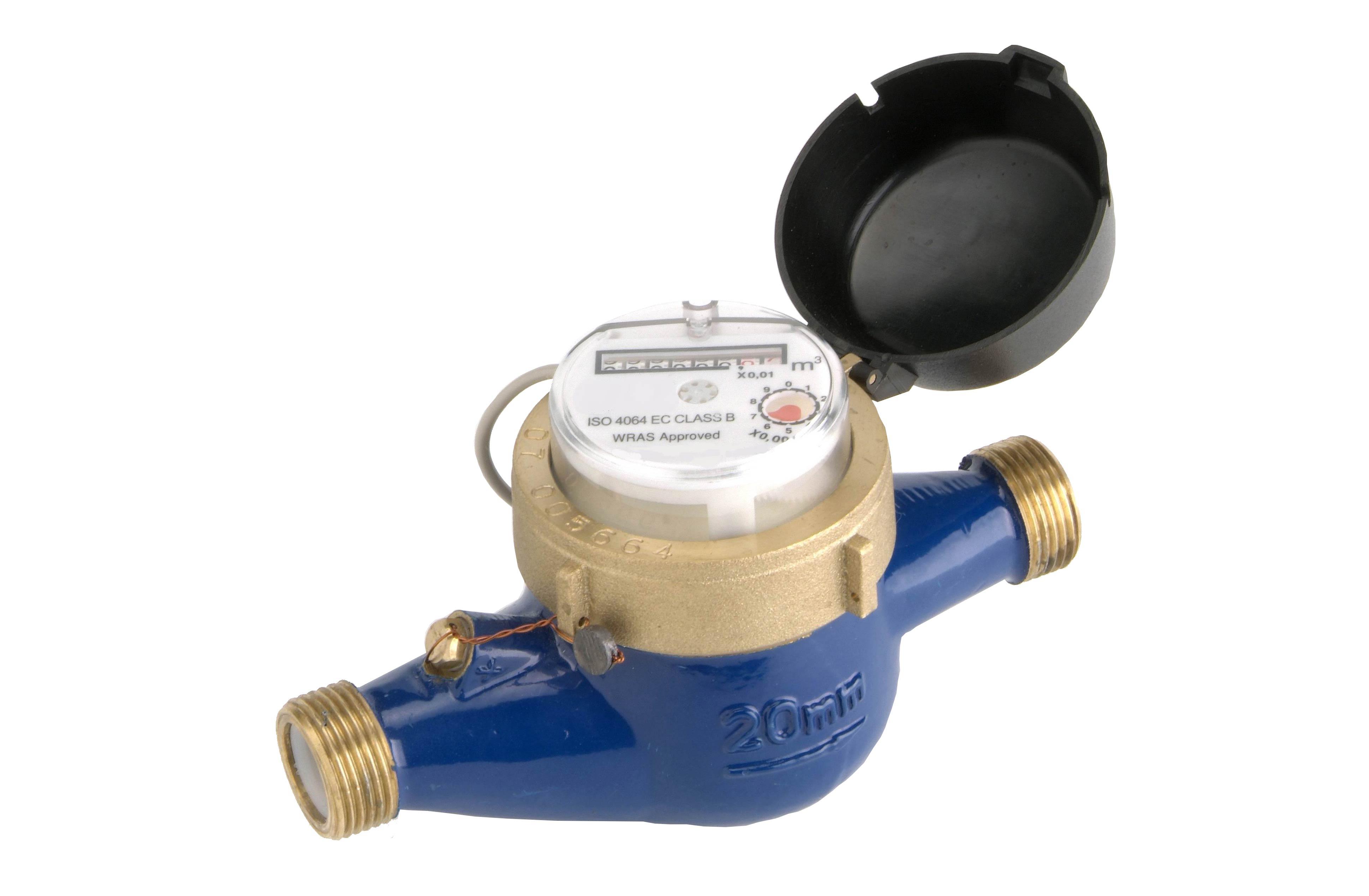 MultiJet turbine flow Meter with open cap