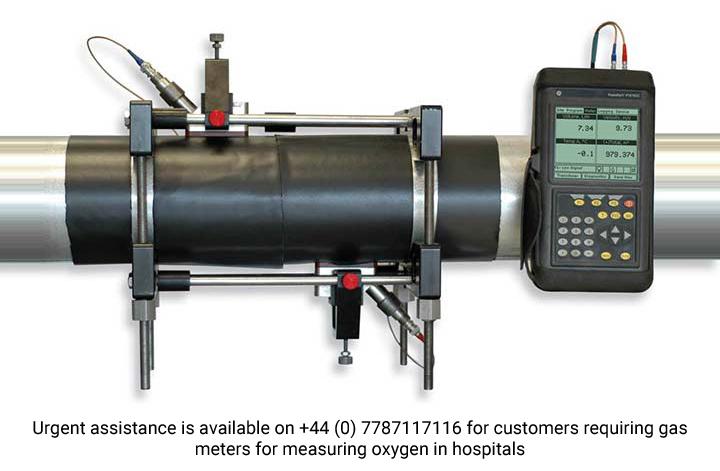 Débitmètre portable à ultrasons pour gaz Panametrics PT878GC