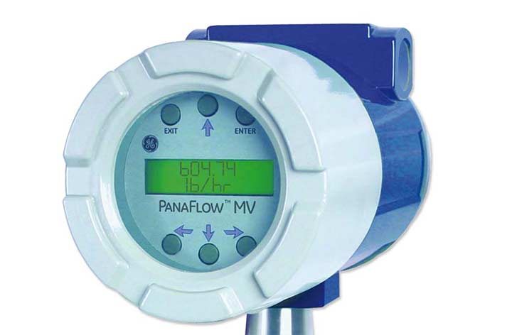 MV82 Vortex Insertion Flowmeter display close up