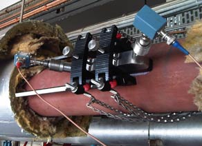 The PT878GC flowmeter installation.